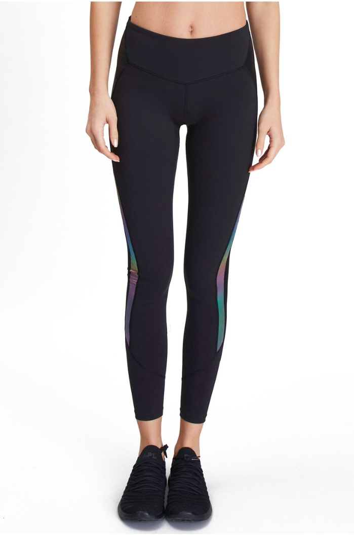 Running Legging in Mermaid and Black