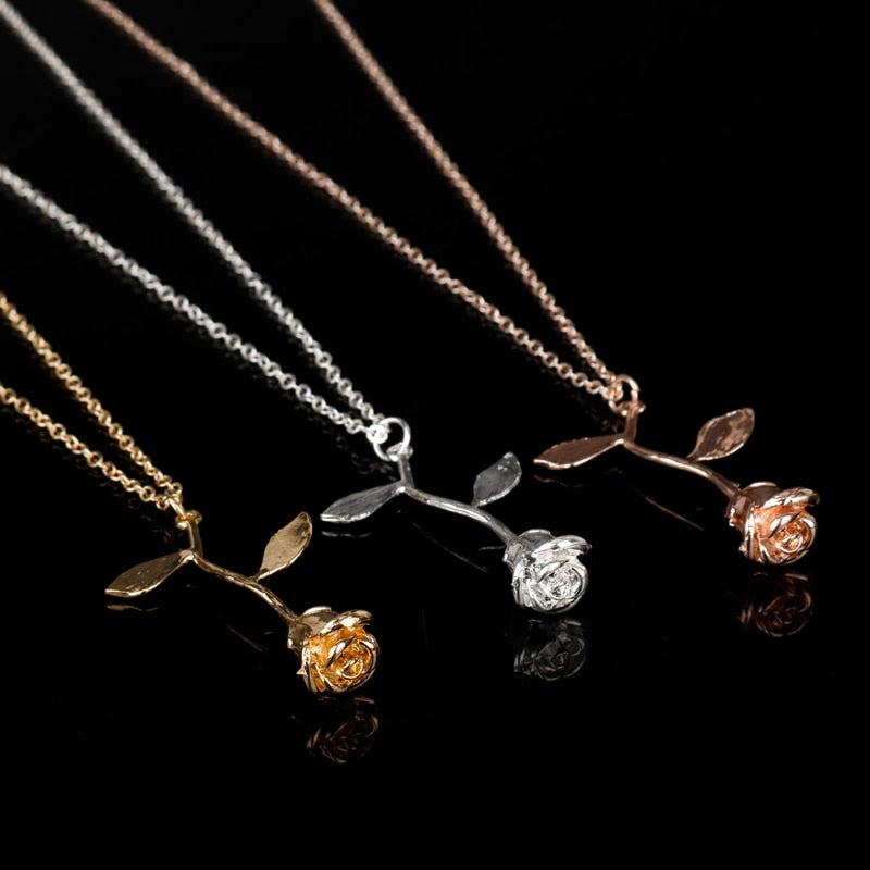 Infinite Rose Necklace