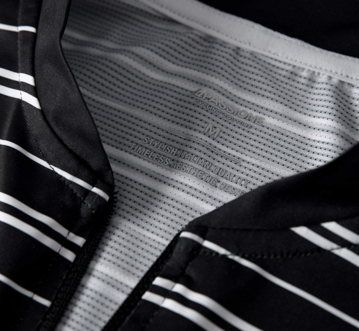 Ultimate Jersey Stripes Black/White