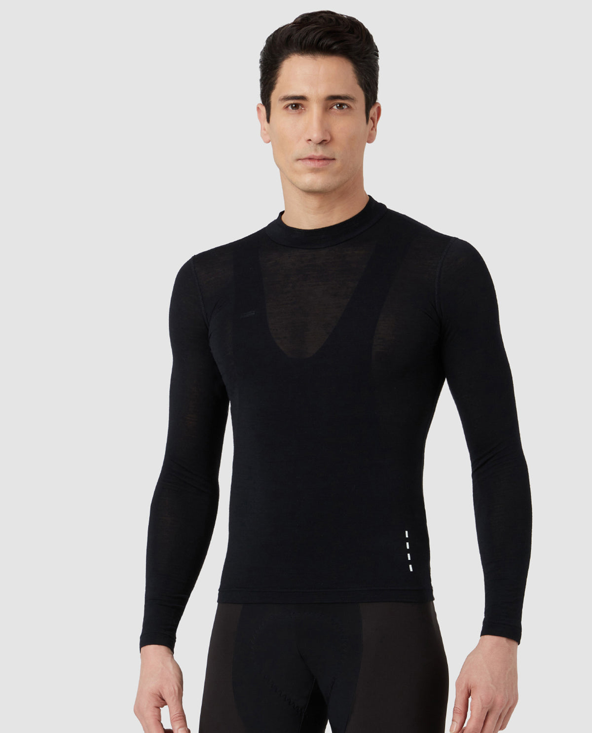 Merino Long Sleeve Base Layer Black