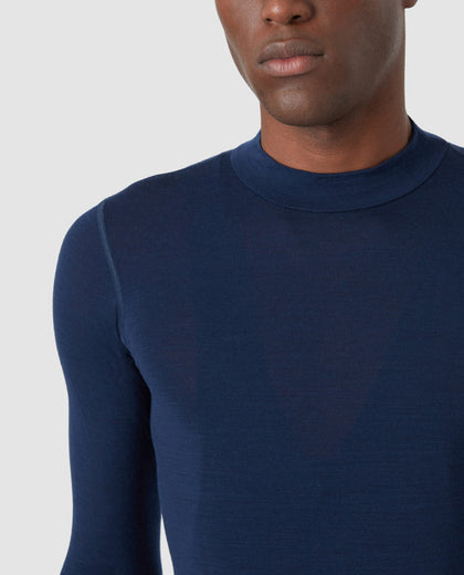 Merino Long Sleeve Base Layer Blue