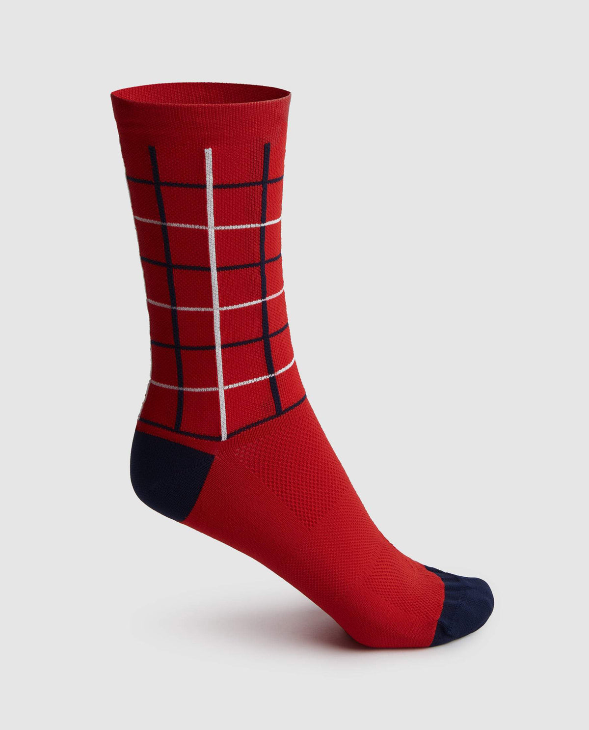 Square Socks Red