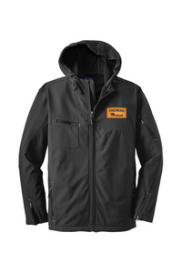 Port Authority® Textured Hooded Soft Shell Jacket - THOMAS