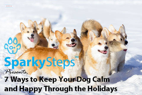 Sparky Steps - 7 Ways to Keep Your Dog Calm and Happy Through the Stress of the Holidays