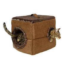 Load image into Gallery viewer, Playz N' Snuz Foldable Pet House/Bed - the purrfect play/rest abode!
