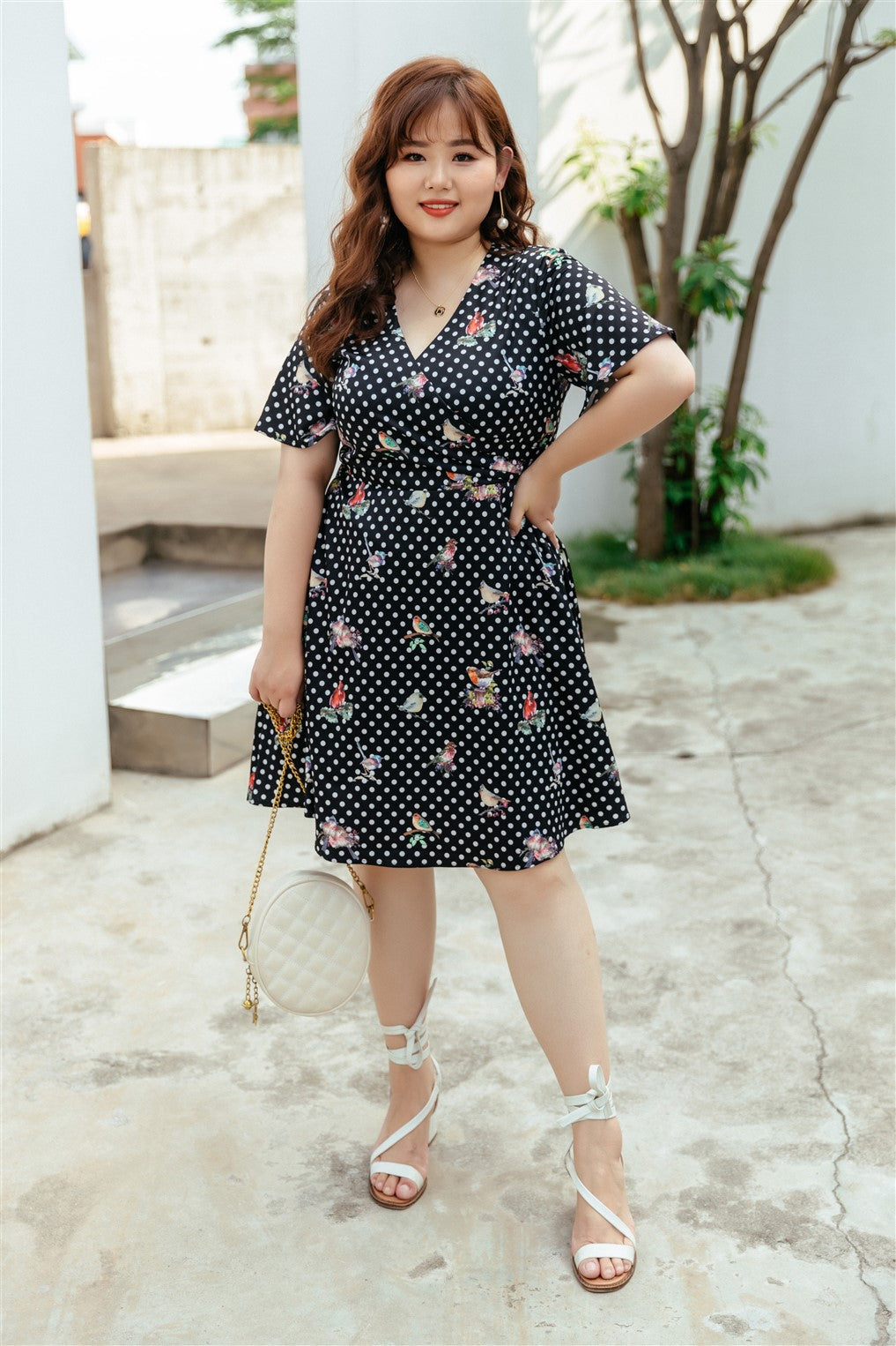 Birdie Fit and Flare Dress in Black