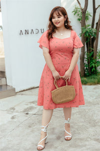 Courtney Flutter Sleeve Sweetheart Dress