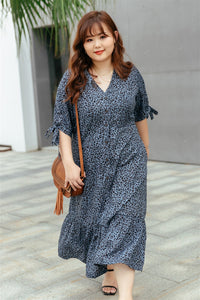 Cleo Button-up Midi Dress in Soft Blue