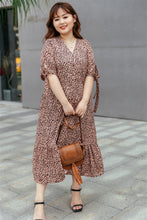 Load image into Gallery viewer, Cleo Button-up Midi Dress in Rose Gold