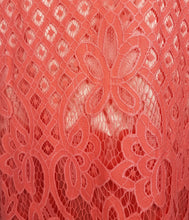 Load image into Gallery viewer, Claire Lace Dress in Coral