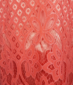 Claire Lace Dress in Coral