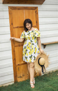 Limoncello Off-Shoulder Dress in White