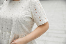 Load image into Gallery viewer, Ayumi Peplum Top in Cream
