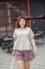 Load image into Gallery viewer, Ayumi Peplum Top in Oatmeal