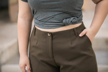 Load image into Gallery viewer, Emily Wide Leg Crop Pant in Olive