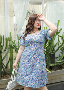 Bluebell Flutter Sleeve Sweetheart Dress