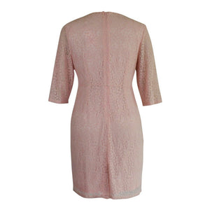 A Lacy Affair Dress in Pink