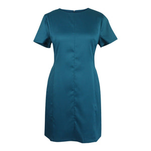 Anchorwoman Dress in Teal