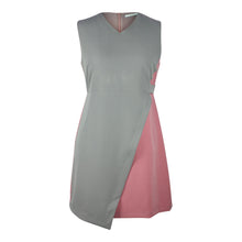 Load image into Gallery viewer, Alexa Asymetric Colour Block Dress in Grey and Pink