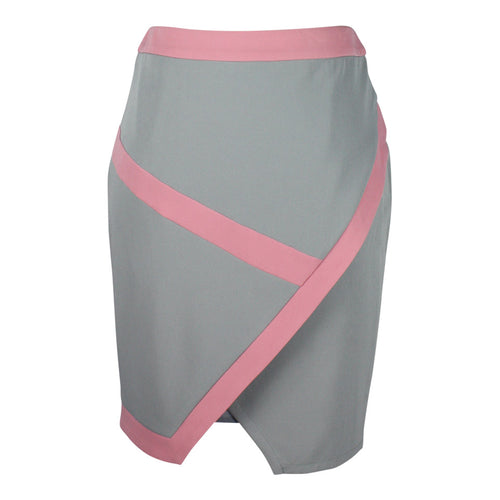 Colour Block Skirt in Pink & Grey