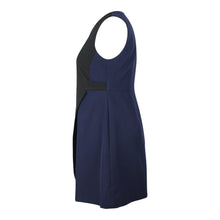 Load image into Gallery viewer, Alexa Asymetric Colour Block Dress in Black & Navy
