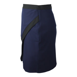 Colour Block Skirt in Black & Navy