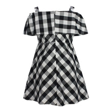 Load image into Gallery viewer, Cold Shoulder Gingham Dress