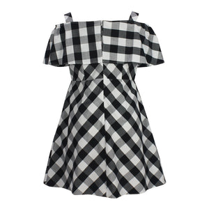 Cold Shoulder Gingham Dress