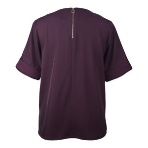 Constance Top in Aubergine