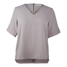 Load image into Gallery viewer, plus size light purple v neck boxy top