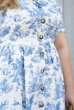 Load image into Gallery viewer, Pretty Pastoral Shirt Dress in Blue
