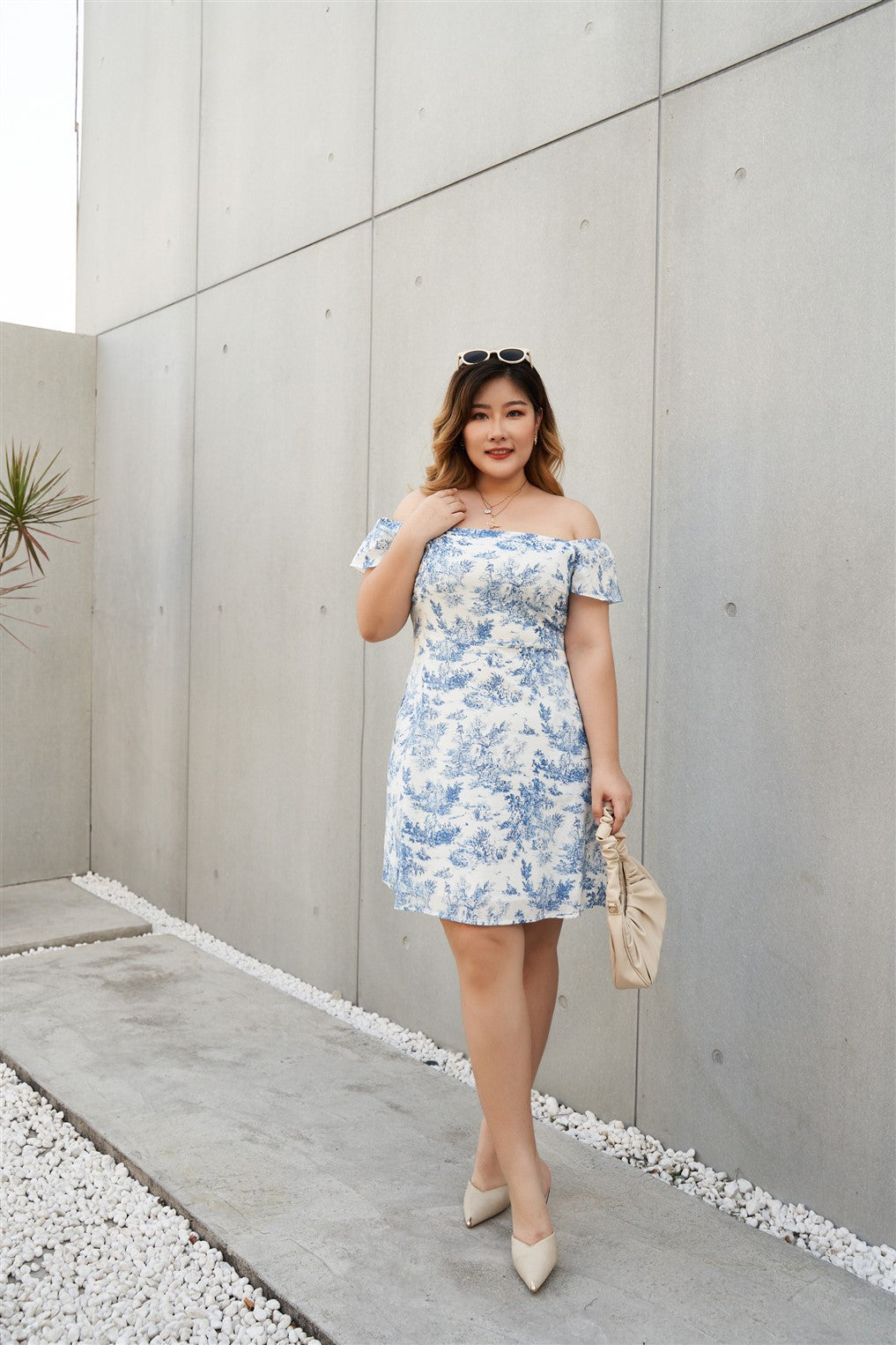Plus Size Toile De Jouy  Summer Dress