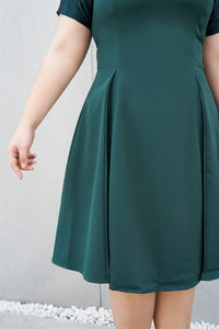 Temperance Cocktail Dress in Emerald Green