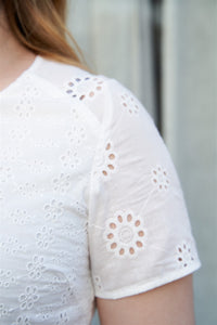 Esty Cotton Lace Top in White