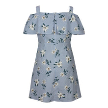 Load image into Gallery viewer, Off-shoulder Floral Stripe Dress