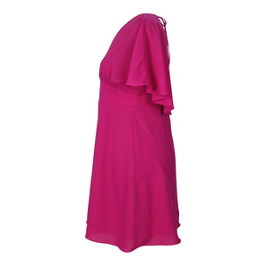 Cape Dress in Fuchsia