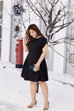 Load image into Gallery viewer, Rebecca Fit and Flare Dress in Black