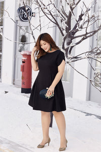 Rebecca Fit and Flare Dress in Black