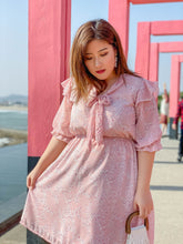 Load image into Gallery viewer, Fleur Chiffon Dress in Pink
