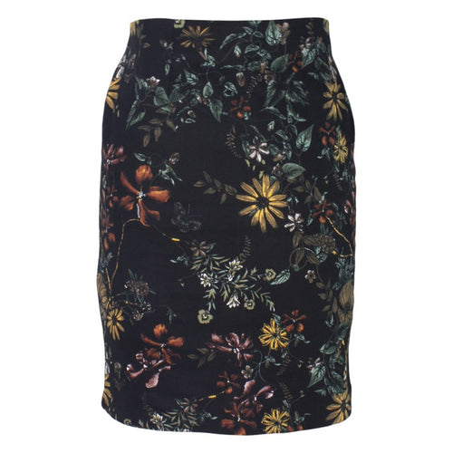 Dark Floral Pencil Skirt