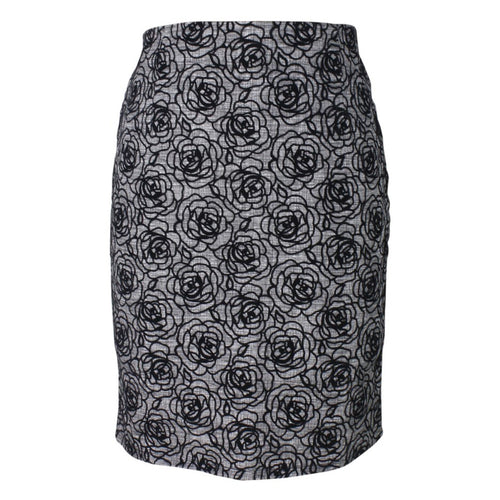 Black Rose Pencil Skirt