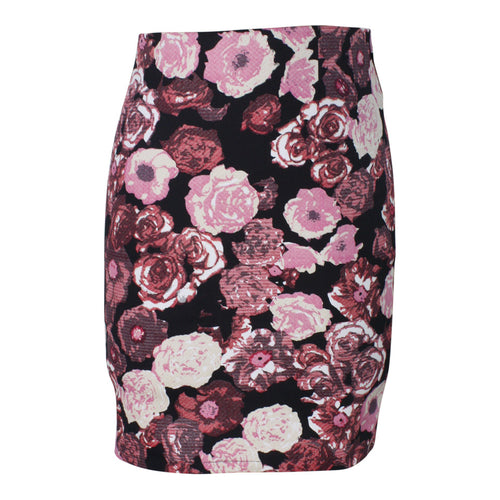 Red Rose Tapestry Pencil Skirt