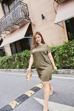 Load image into Gallery viewer, Megan Shift Dress in Khaki