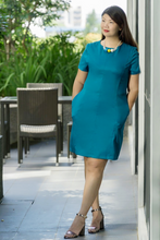 Load image into Gallery viewer, Anchorwoman Dress in Teal