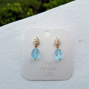 Topaz Crown Earrings