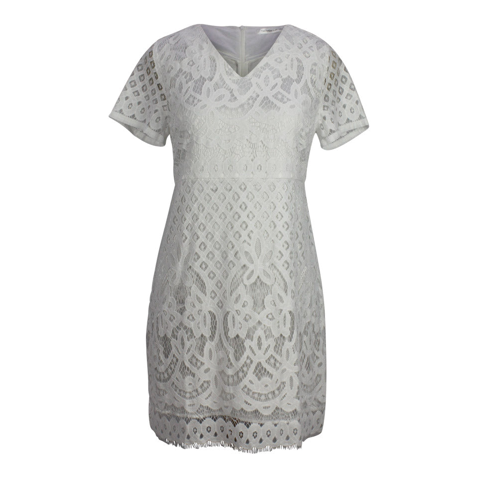 Claire Lace Dress in White