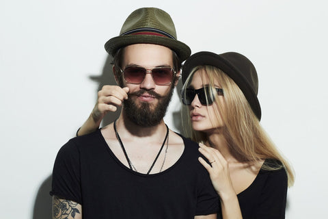Couple in Trilby hats