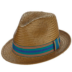 Ono Straw Pinch Front Fedora Hat by Brooklyn Hats