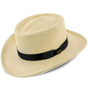 Panama Straw Gambler Hat by Scala Hats