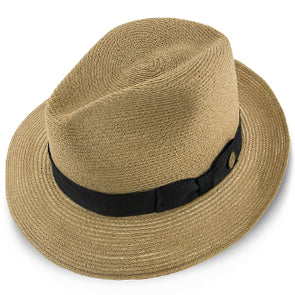 Tate Hemp Braid Straw Fedora Hat by Stetson Hats